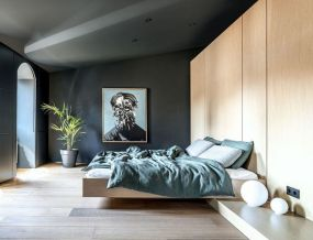 Awesome wooden panel walls bedroom ideas 23