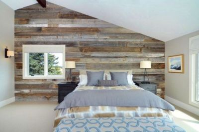 Awesome wooden panel walls bedroom ideas 32