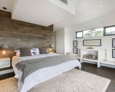 Awesome wooden panel walls bedroom ideas 34