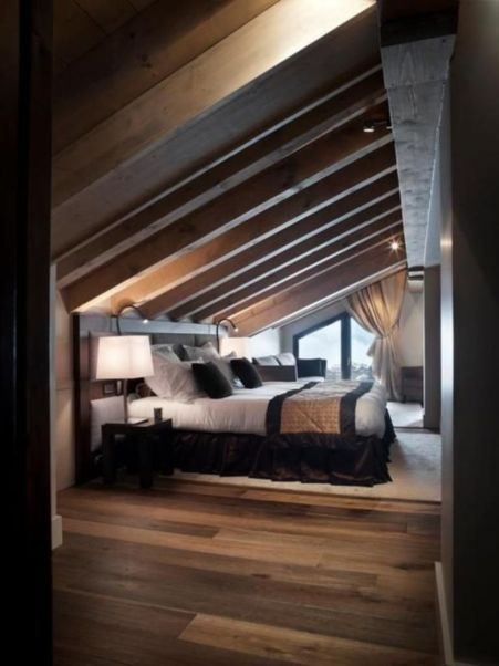 Awesome wooden panel walls bedroom ideas 40