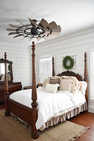 Casual vintage farmhouse bedroom ideas 11