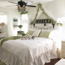 Casual vintage farmhouse bedroom ideas 18