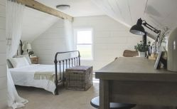 Casual vintage farmhouse bedroom ideas 22