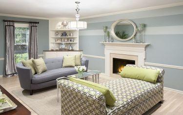 Fascinating striped walls living room designs ideas 10