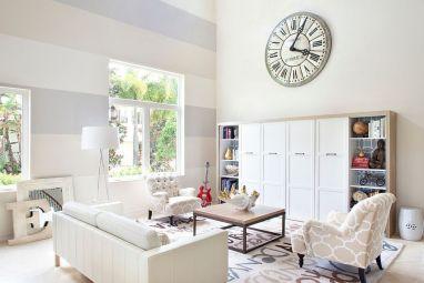 Fascinating striped walls living room designs ideas 19
