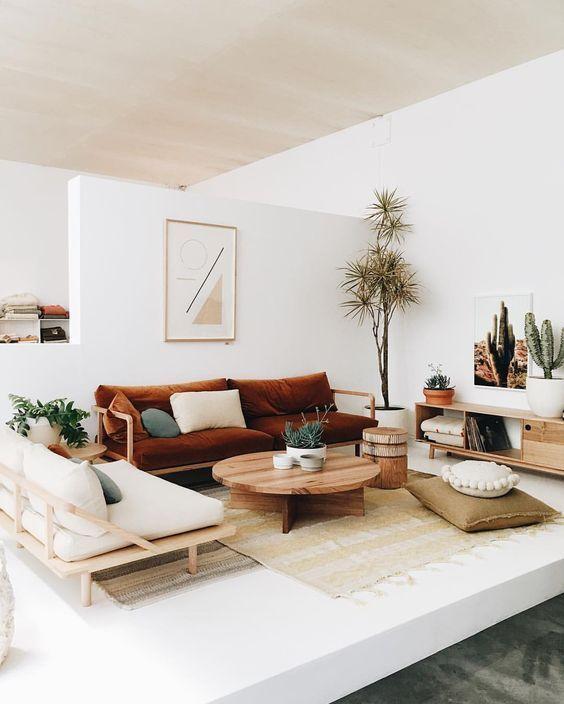 Fascinating striped walls living room designs ideas 24