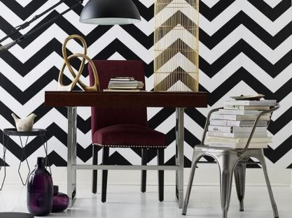 Fascinating striped walls living room designs ideas 30