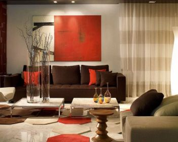 Fascinating striped walls living room designs ideas 34