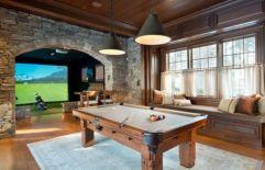 Impressive masculine game room decor ideas 37