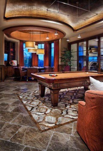 Impressive masculine game room decor ideas 40