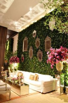Inspiring outdoor garden wall mirrors ideas 01