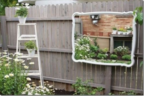 Inspiring outdoor garden wall mirrors ideas 04