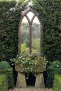 Inspiring outdoor garden wall mirrors ideas 06