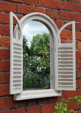 Inspiring outdoor garden wall mirrors ideas 18