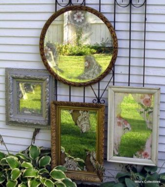 Inspiring outdoor garden wall mirrors ideas 33
