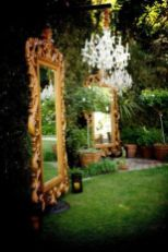 Inspiring outdoor garden wall mirrors ideas 35