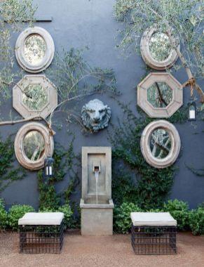 Inspiring outdoor garden wall mirrors ideas 36