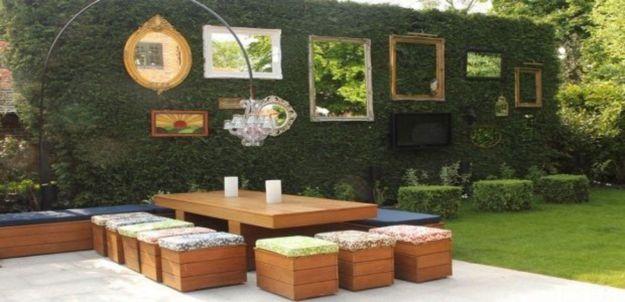 Inspiring outdoor garden wall mirrors ideas 39