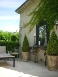 Inspiring outdoor garden wall mirrors ideas 40