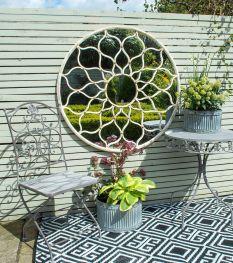 Inspiring outdoor garden wall mirrors ideas 41