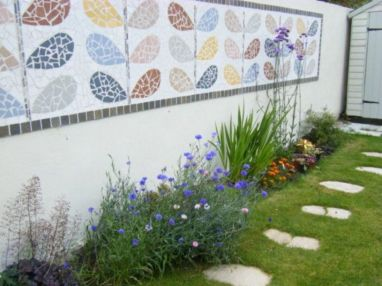 Inspiring outdoor garden wall mirrors ideas 44
