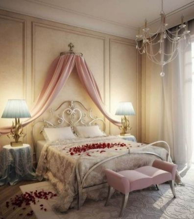Inspiring valentine bedroom decor ideas for couples 26