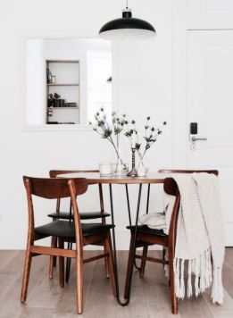 Modern scandinavian dining room chairs design ideas 18