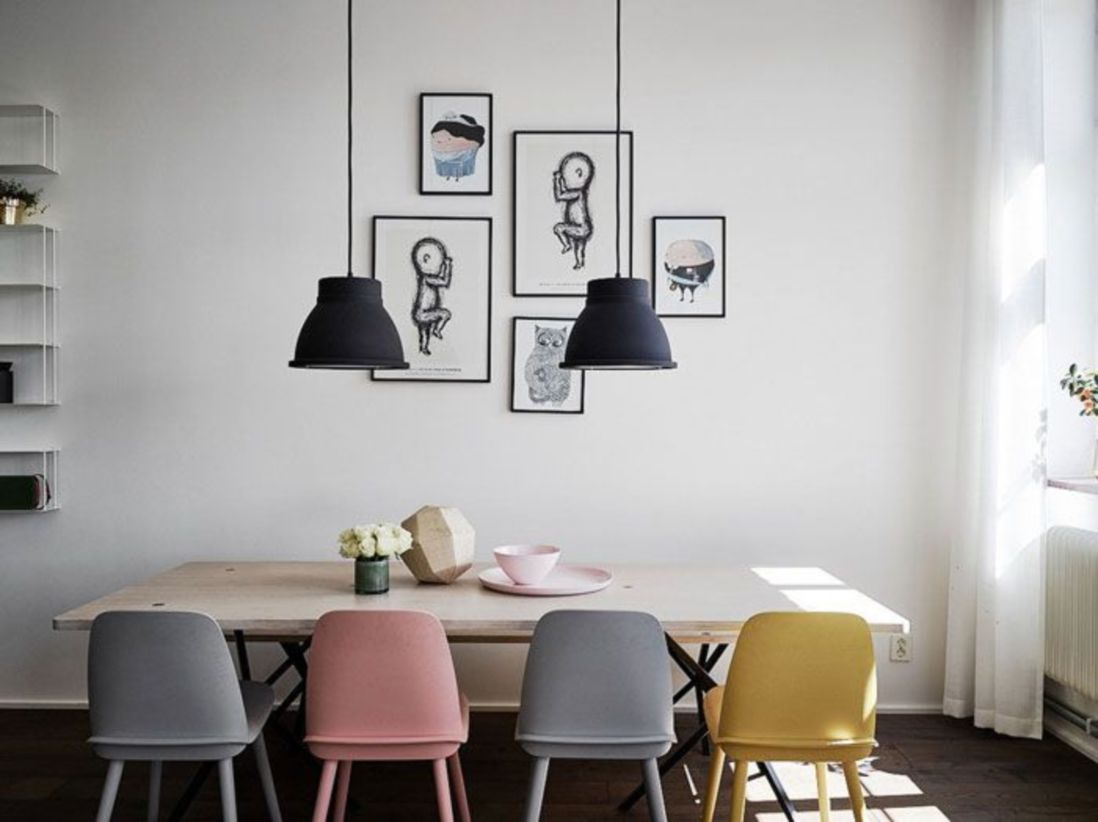 Modern scandinavian dining room chairs design ideas 26