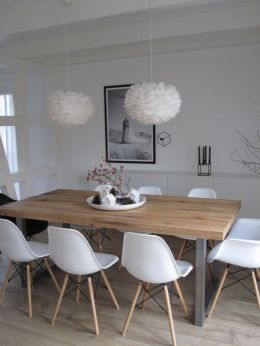 Modern scandinavian dining room chairs design ideas 27