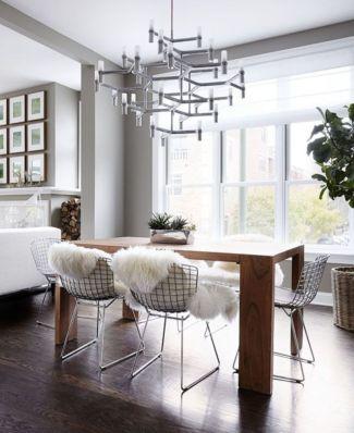 Modern scandinavian dining room chairs design ideas 44