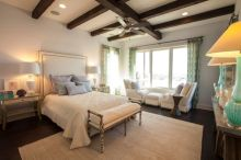 Pretty bedroom designs ideas with exposed wooden beams 24