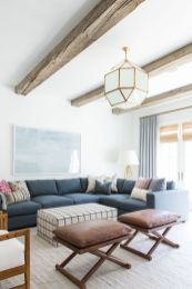 Stylish coastal living room decoration ideas 02