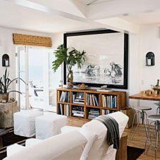 Stylish coastal living room decoration ideas 05