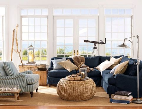 Stylish coastal living room decoration ideas 11