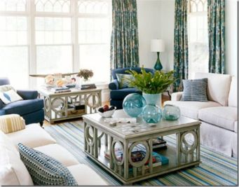 Stylish coastal living room decoration ideas 30