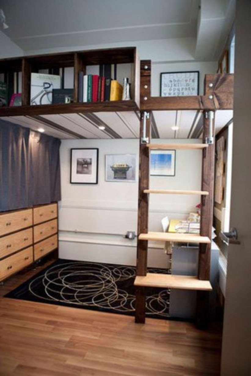 Unordinary space saving design ideas for small kids rooms 20