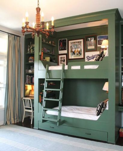 Unordinary space saving design ideas for small kids rooms 37