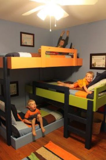 Unordinary space saving design ideas for small kids rooms 42