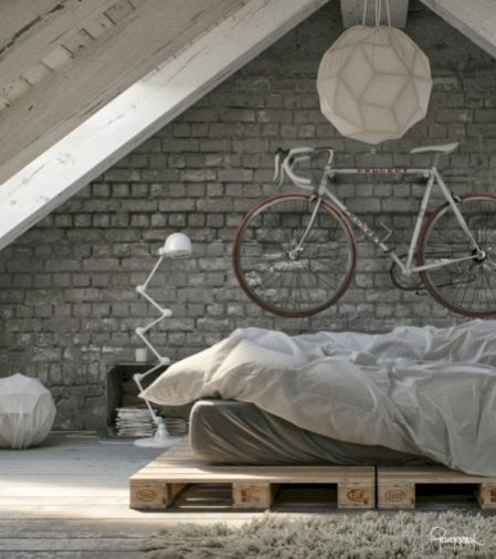 Modern faux brick wall art design decorating ideas for your bedroom 15