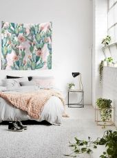 Modern faux brick wall art design decorating ideas for your bedroom 20