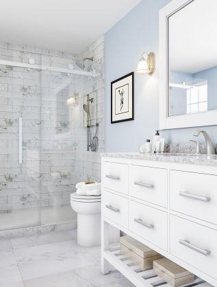 Affordable bathroom design ideas for apartment 21