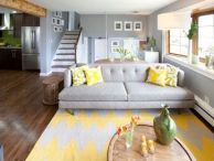 Awesome big living room design ideas with stairs 04