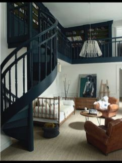 Awesome big living room design ideas with stairs 10