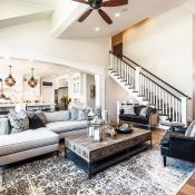 Awesome big living room design ideas with stairs 24