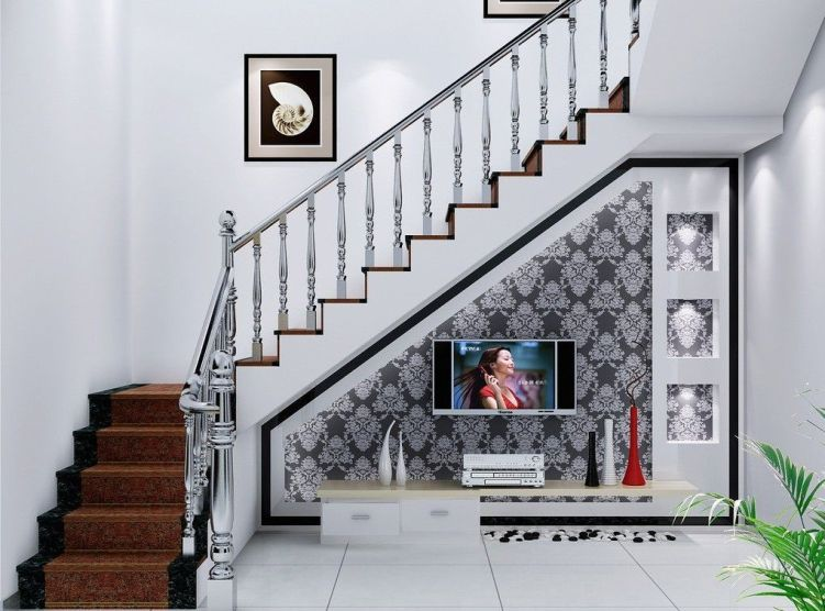 Awesome big living room design ideas with stairs 48