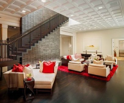 Awesome big living room design ideas with stairs 52