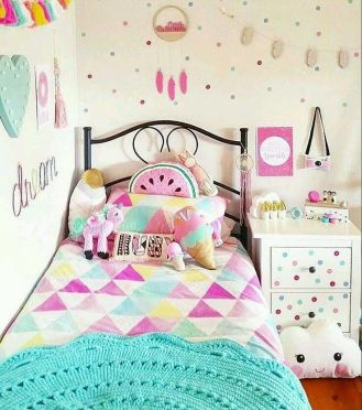 Charming fun tween bedroom ideas for girl 06