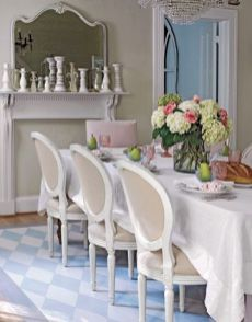 Comfy formal table centerpieces decorating ideas for dining room 19