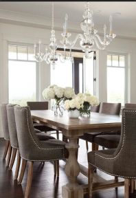 Comfy formal table centerpieces decorating ideas for dining room 37