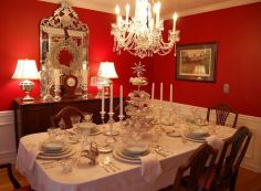 Comfy formal table centerpieces decorating ideas for dining room 43